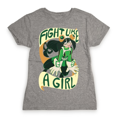 Fight Like A Girl - Froppy Womens T-Shirt