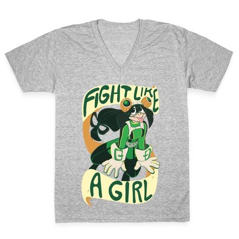 Fight Like A Girl - Froppy V-Neck Tee Shirt