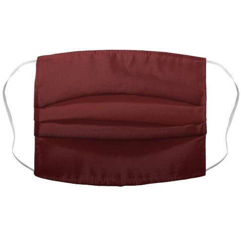 Burgundy Gradient Accordion Face Mask