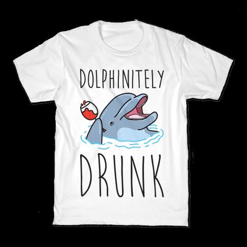 Dolphinitely Drunk Kids T-Shirt