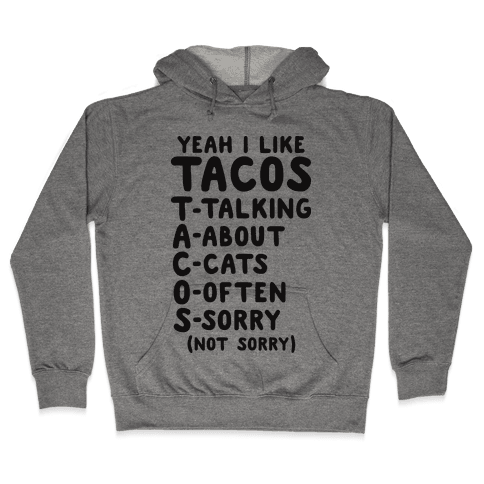 Tacos Acronym Hooded Sweatshirt
