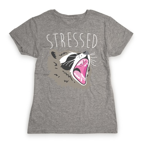 Stressed Raccoon Womens T-Shirt
