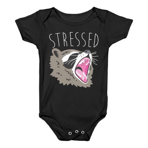 Stressed Raccoon Baby Onesy