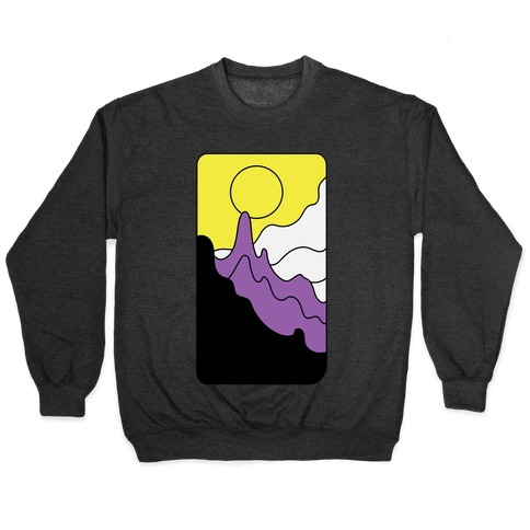 Groovy Pride Flag Landscapes: Nonbinary Flag Pullover