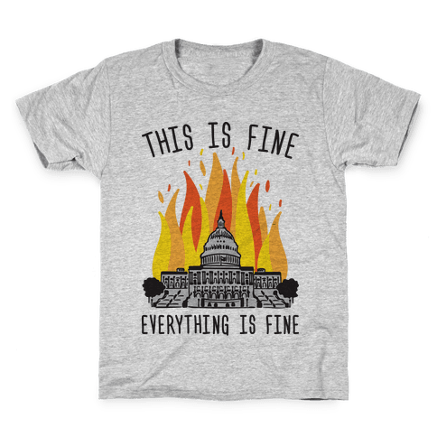 This Is Fine Everything Is Fine U.S. Capitol Kids T-Shirt