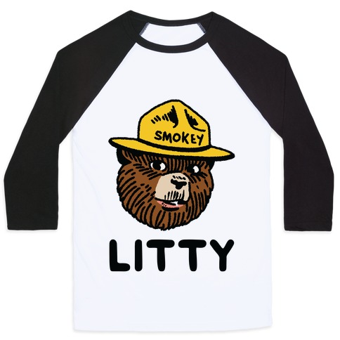 Litty Smokey The Bear Baseball Tee