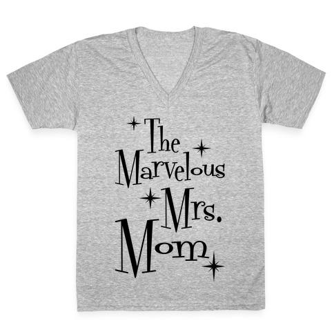 The Marvelous Mrs. Mom V-Neck Tee Shirt