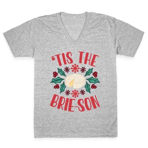 'Tis The Brie-son V-Neck Tee Shirt