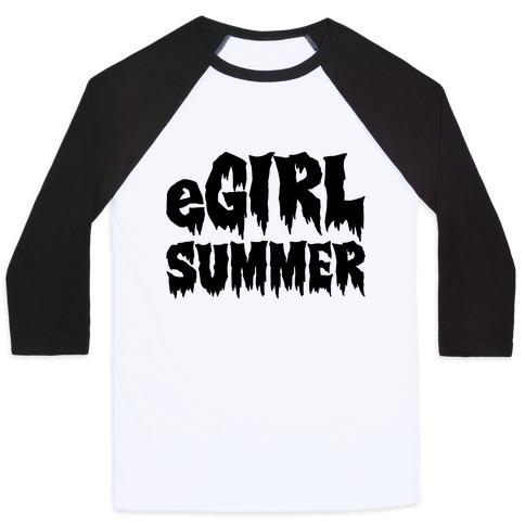 Egirl Summer Parody Baseball Tee