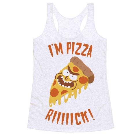 I'M PIZZA RICK! Racerback Tank Top