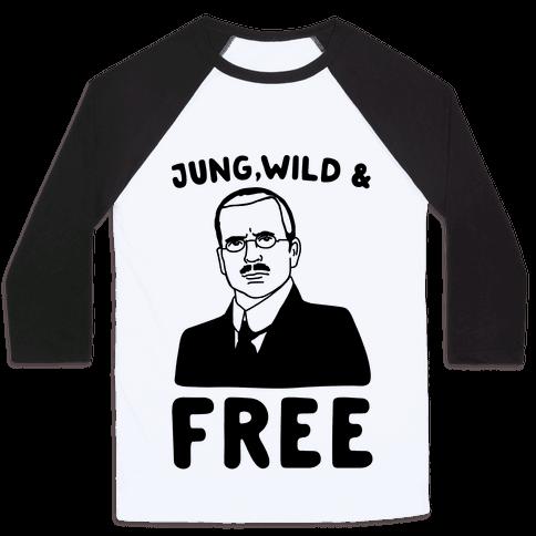 Jung Wild & Free Parody Baseball Tee