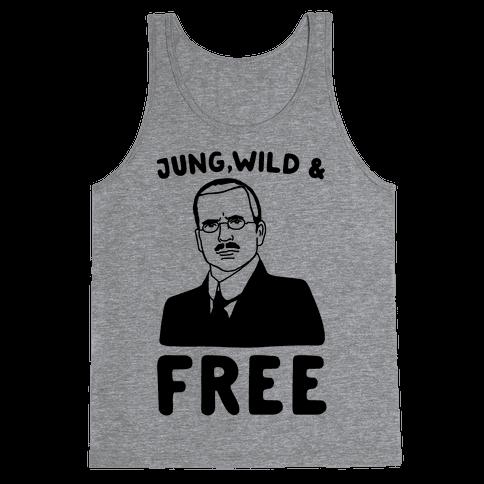 Jung Wild & Free Parody Tank Top