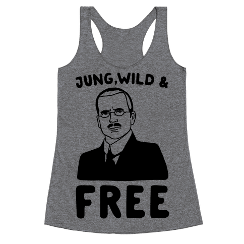 Jung Wild & Free Parody Racerback Tank Top