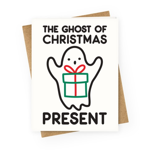 The Ghost of Christmas Present Greeting Card