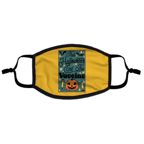 This Halloween Get The Vaccine Flat Face Mask