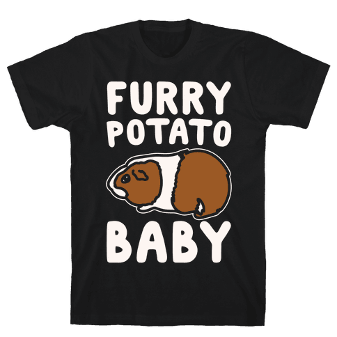 Furry Potato Baby Guinea Pig Parody White Print Mens T-Shirt