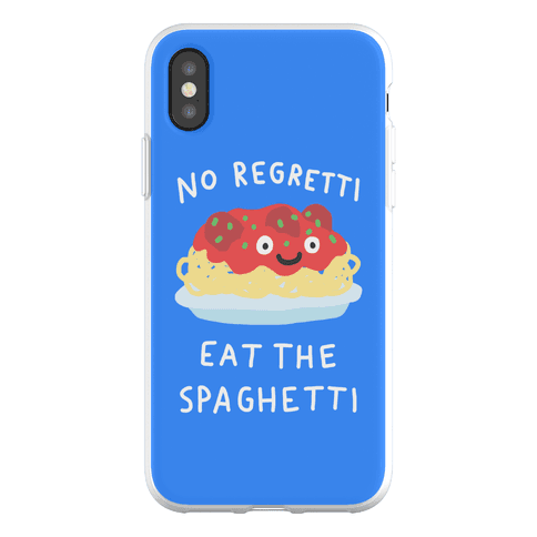 No Regretti Eat The Spaghetti Phone Flexi-Case