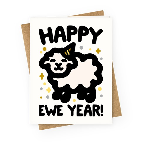 Happy Ewe Year Greeting Card