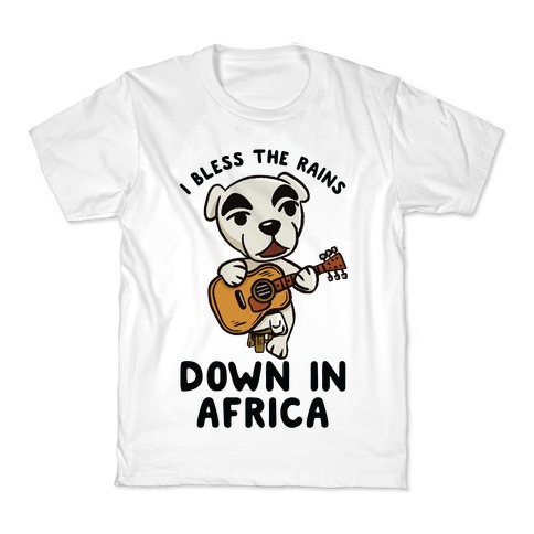 Kcloer24 I Bless The Rains Down in Africa Kids Personality T-Shirt Graphic Tee 2-6 Years Old