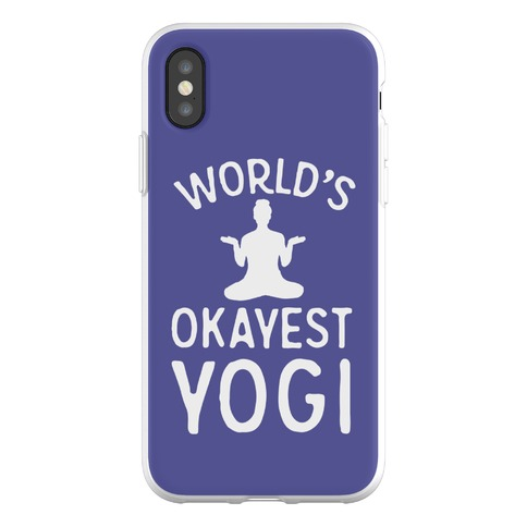 World's Okayest Yogi Phone Flexi-Case