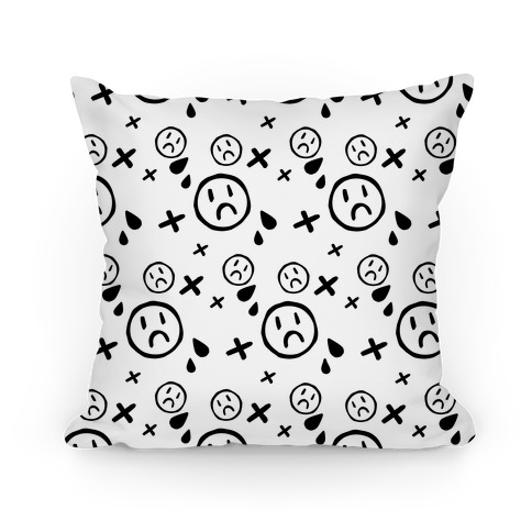Emo Pattern White Pillow
