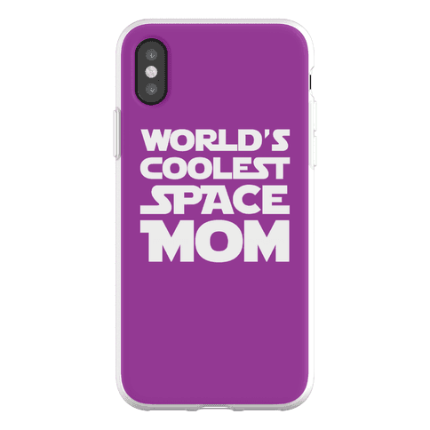 World's Coolest Space Mom Phone Flexi-Case