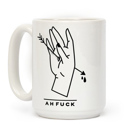 Ah F*** Hand Shot With Arrow Coffee Mug