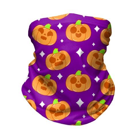 Kawaii Pumpkins Pattern Orange Neck Gaiter