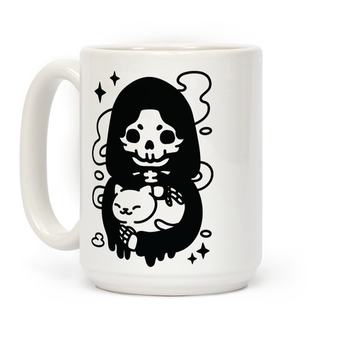 Death and Kitty Coffee Mug