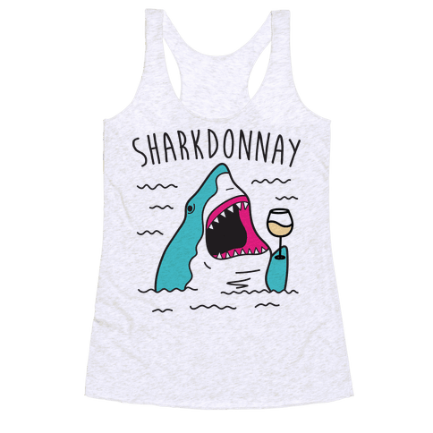 Sharkdonnay Racerback Tank Top