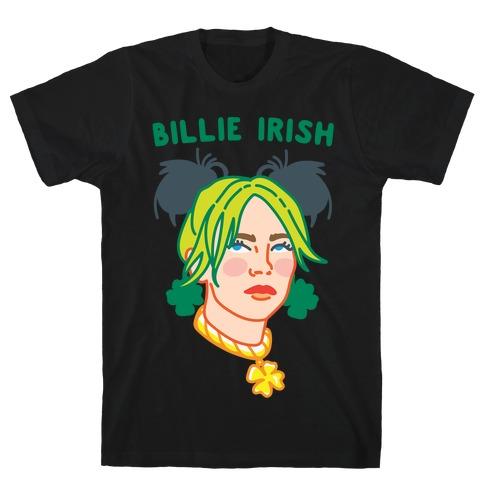 Billie Irish Parody White Print T-Shirt