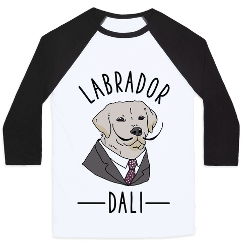 Labrador Dali Baseball Tee