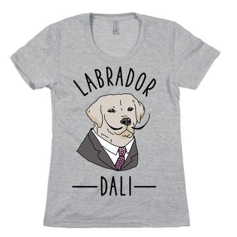 Labrador Dali Womens T-Shirt