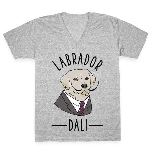 Labrador Dali V-Neck Tee Shirt