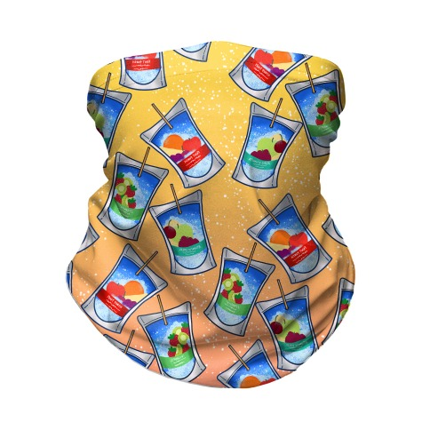 Juice Pouch Pattern Neck Gaiter