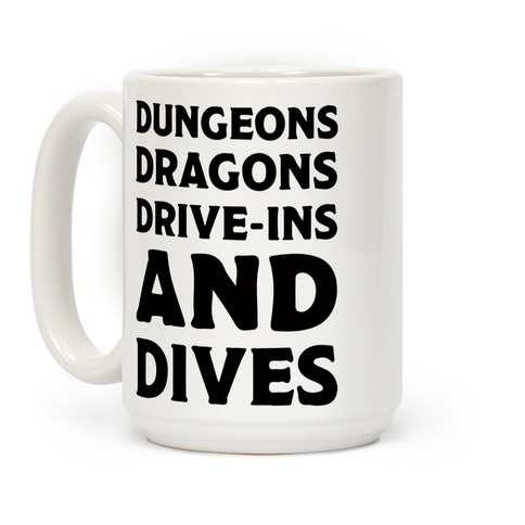 Dungeons Dragons Drive-ins And Dives Coffee Mug