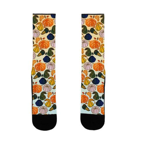 Autumn Gourds Pattern Sock