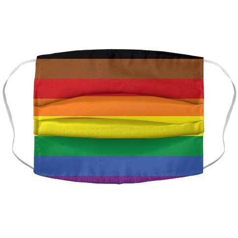 Gay Pride Flag Accordion Face Mask