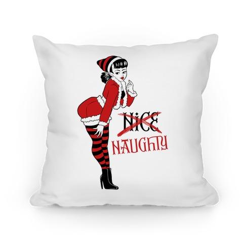 Naughty Elf Pillow
