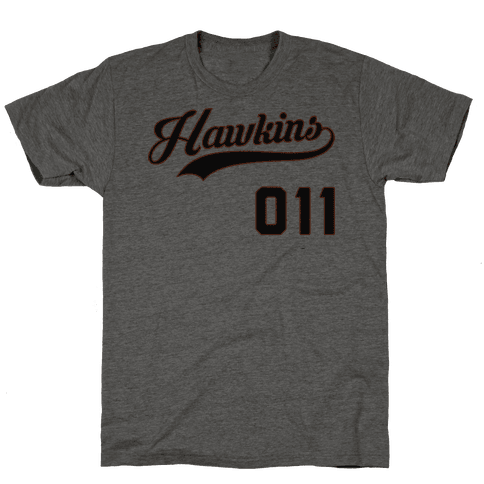 Hawkins Baseball Mens T-Shirt