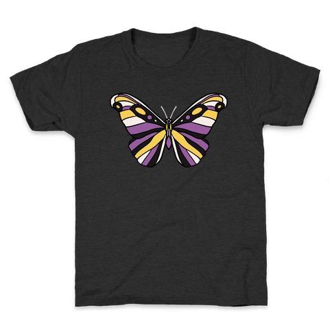 Non-binary Butterfly Kids T-Shirt