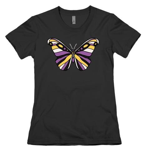 Non-binary Butterfly Womens T-Shirt
