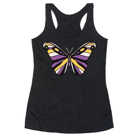 Non-binary Butterfly Racerback Tank Top