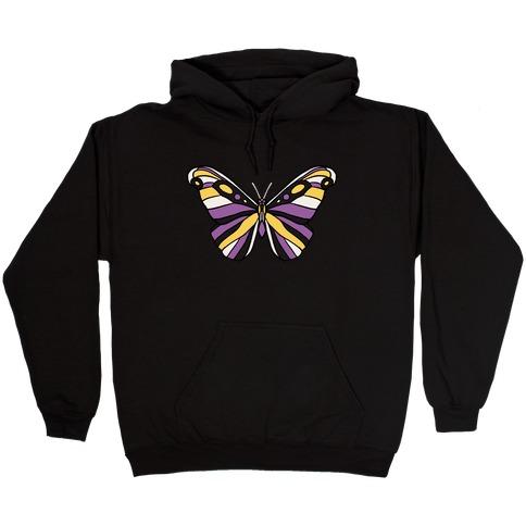 Non-binary Butterfly Hooded Sweatshirt
