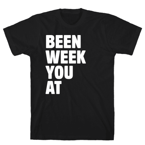 One Week Pair 2 White Print Mens T-Shirt