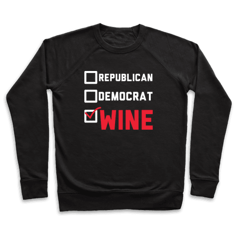 Republican Democrat Wine wht Pullover