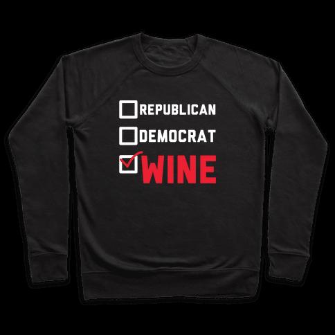 Republican Democrat Wine wht Pullover