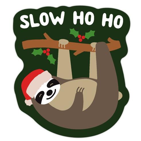 Slow Ho Ho Santa Sloth Die Cut Sticker