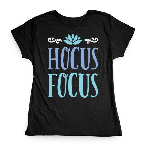 Hocus Focus Yoga Womens T-Shirt