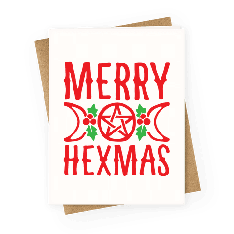 Merry Hexmas Parody Greeting Card